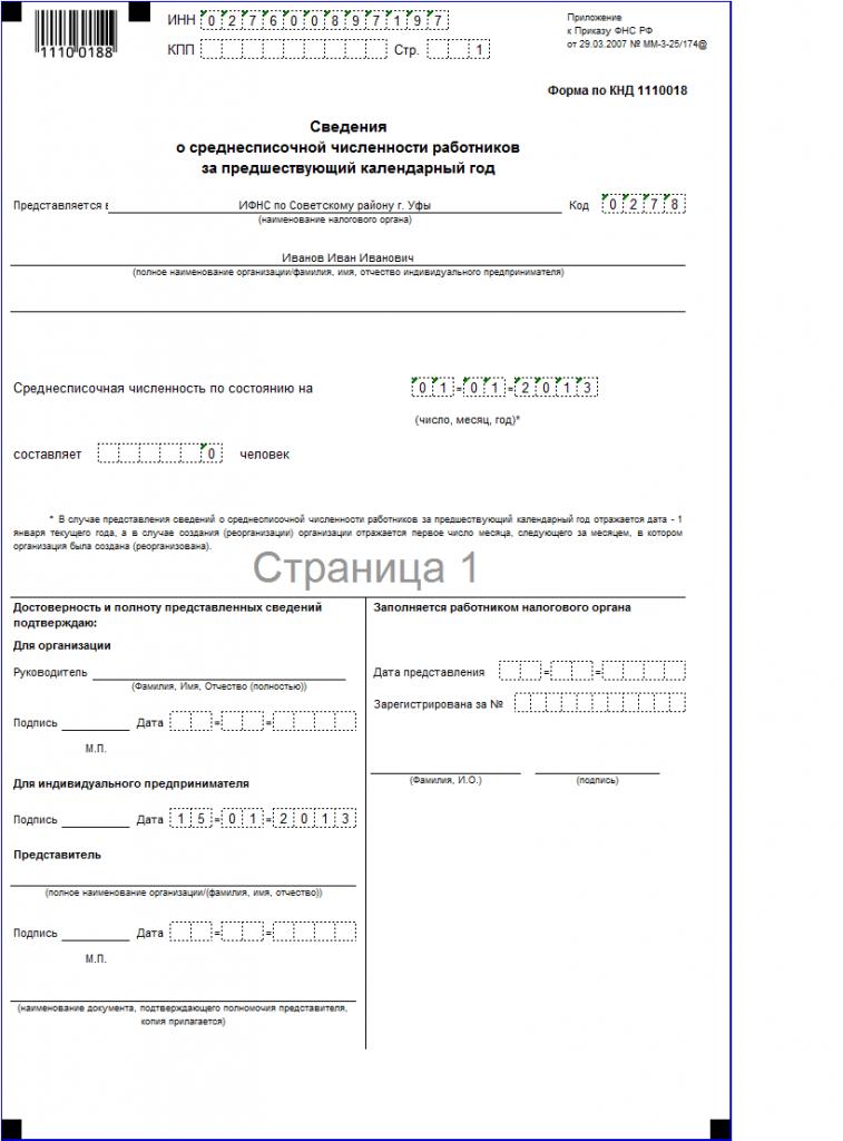 Отчетность ИП  за 2012 г.