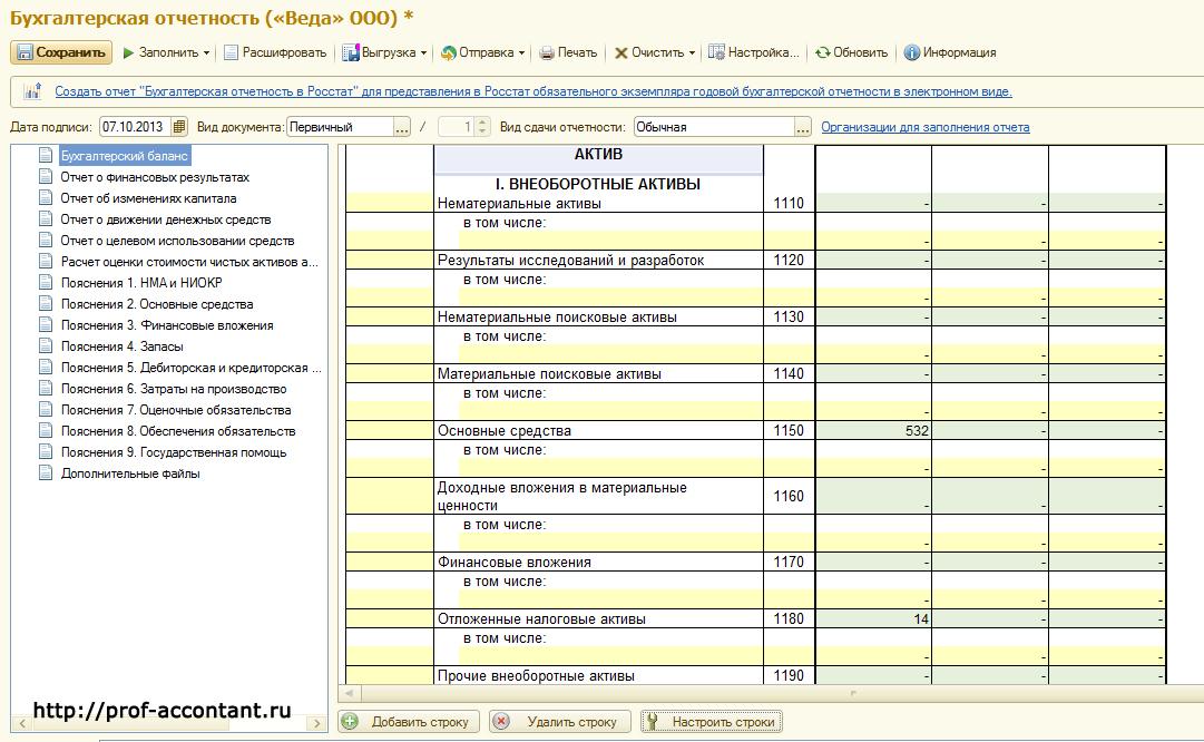 Инструкция По Заполнению Приложений Бух Отчетности За 2011 Год